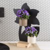 LILY FLOWER - MAGNETIC CHALKBOARD WITH WOODEN PLINTH 23,5X36CM