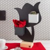 TULIP - MAGNETIC CHALKBOARD WITH WOODEN PLINTH 23,5X36CM